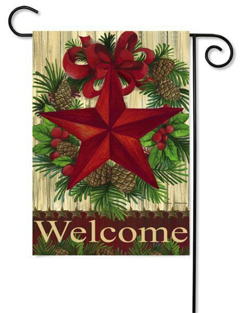 "Christmas Country Star Garden Flag - 12.5"" x 18"""