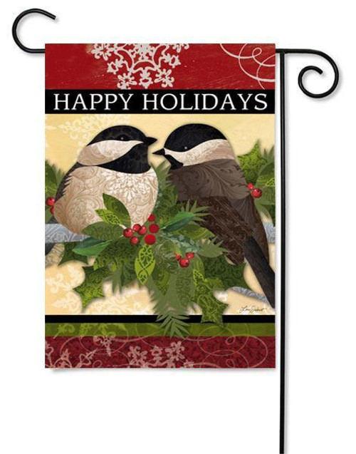 "Feather Friends Garden Flag - 12.5"" x 18"" - 2 Sided Message"