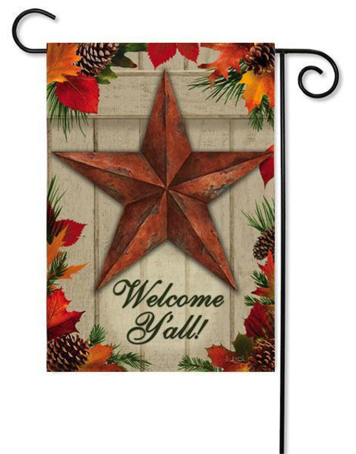 "Country Star Garden Flag - 12.5"" x 18"" - 2 Sided Message"