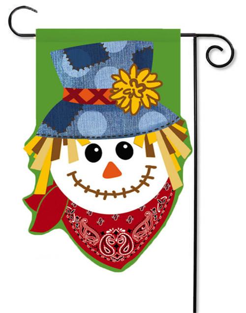 "Happy Scarecrow Burlap Garden Flag - 12.5"" x 18"""