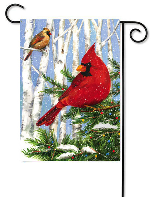 "Cardinal Birches Garden Flag - 12.5"" x 18"""