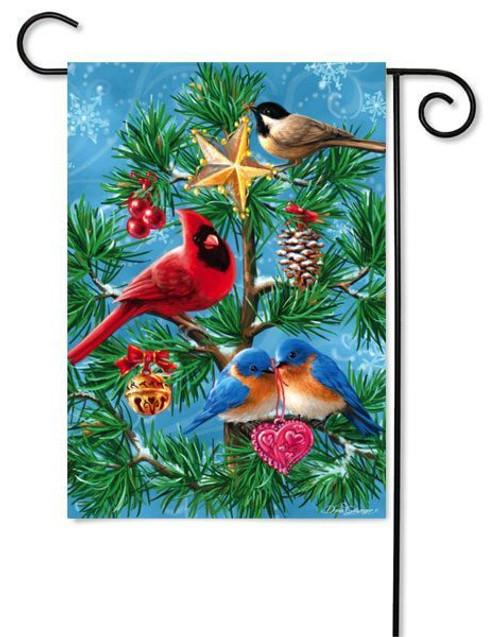 """Festive Flock Glitter Garden Flag - 12.5"""" x 18"""""""