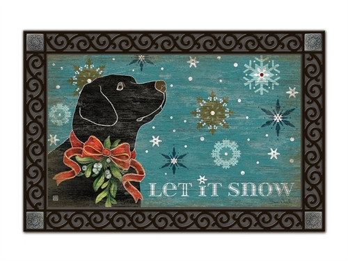 "Let It Snow Lab MatMates Doormat - 18"" x 30"""