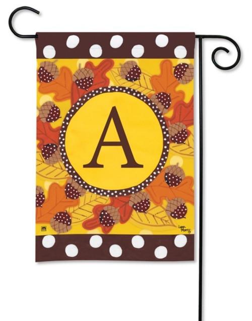 """Fall Follies Monogram Garden Flag Letter A - 12.5"""" x 18"""""""