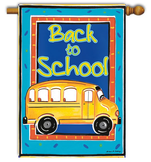 "School Bussin House Flag - 28"" x 40"" - Toland"
