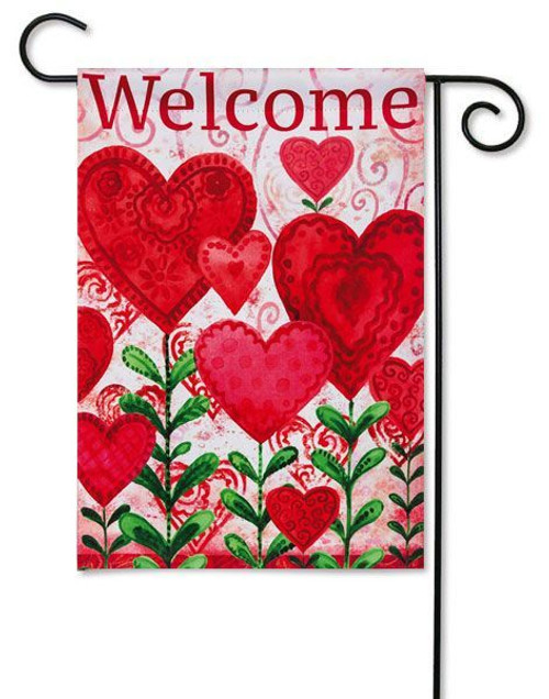 Evergreen Valentine Garden Flag