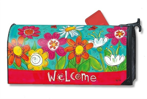 Welcome Blooms Magnetic Mailbox Cover