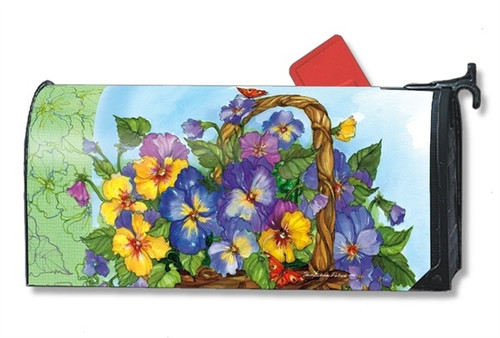 Pansy Basket Magnetic Mailbox Cover