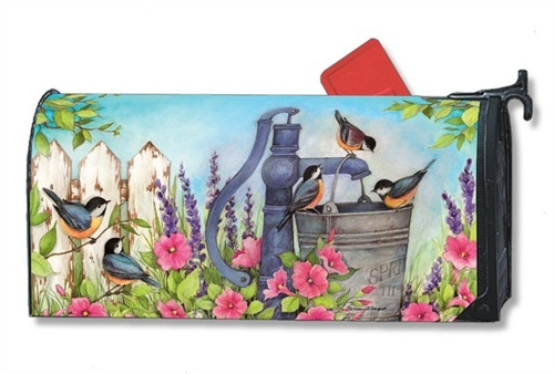 Birds of Summer Magnetic Mailbox Cover