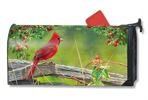 Cardinal Lookout Magnetic Mailbox Cover