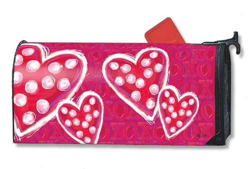 Valentine Wishes Magnetic Mailbox Cover