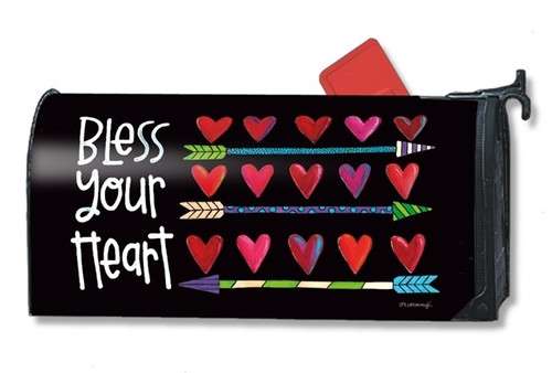Hearts and Arrows Magnetic Mailbox Cover