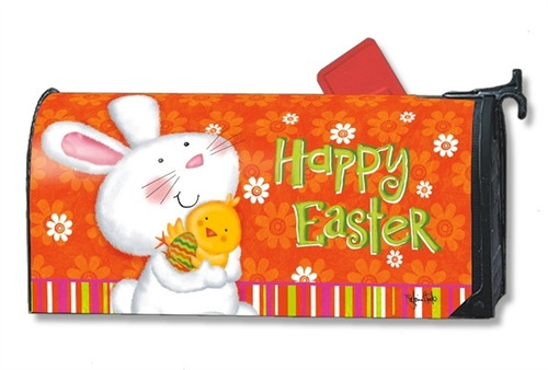 Bunny Love Easter Magnetic Mailbox Cover