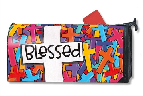 Colorful Crosses Magnetic Mailbox Cover