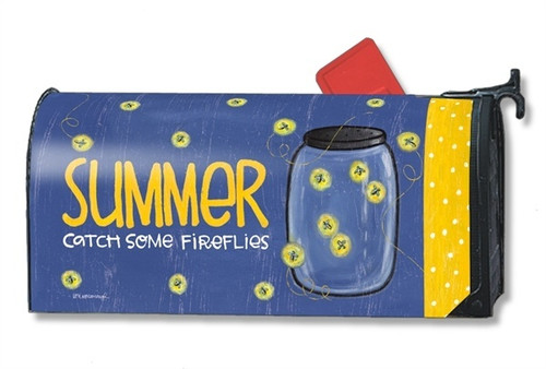 Summer Fireflies Magnetic Mailbox Cover
