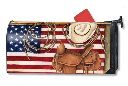 American Cowboy Magnetic Mailbox Cover