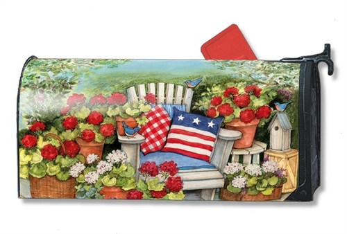 Patriotic Pillows Magnetic Mailbox Cover