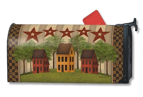 Saltbox Houses Magnetic Mailbox Cover