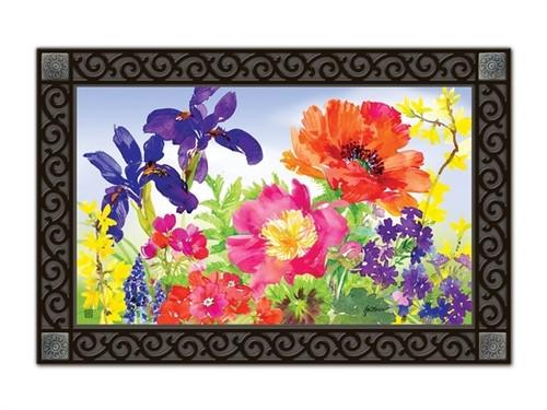 """Garden Blooms MatMates Doormat - 18"""" x 30"""""""
