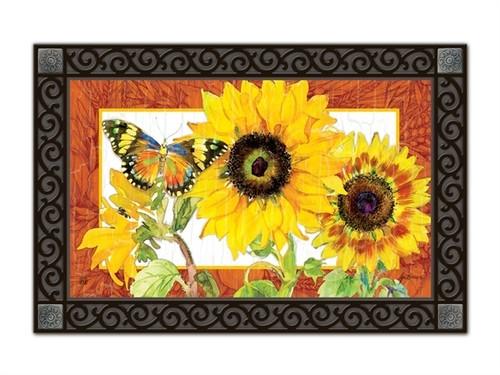 "Golden Sunflower MatMates Doormat - 18"" x 30"""