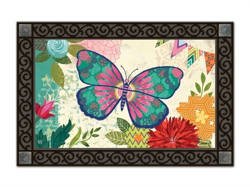 """Capistrano Butterfly MatMates Doormat - 18"""" x 30"""""""