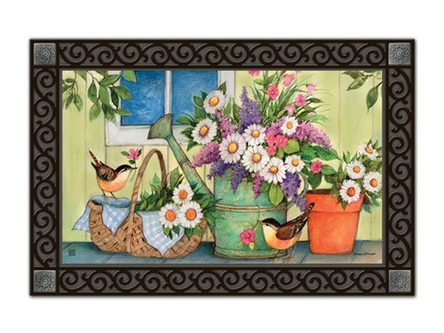 "Front Porch Flowers MatMates Doormat - 18"" x 30"""