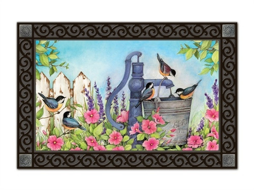 "Birds of Summer MatMates Doormat - 18"" x 30"""