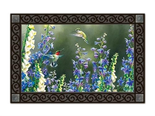 """Hummingbird Garden MatMates Doormat - 18"""" x 30"""""""