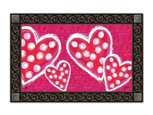 """Valentine Wishes MatMates Doormat - 18"""" x 30"""""""