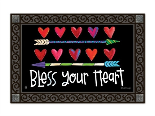 "Hearts and Arrows MatMates Doormat - 18"" x 30"""