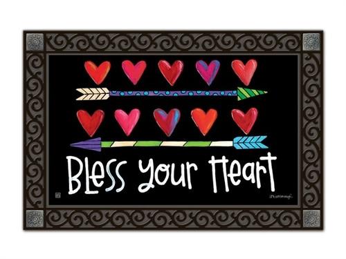 """Hearts and Arrows MatMates Doormat - 18"""" x 30"""""""
