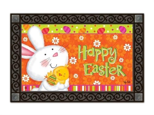 """Bunny Love Easter MatMates Doormat - 18"""" x 30"""""""