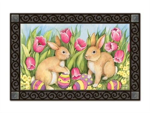 "Hiding the Eggs MatMates Doormat - 18"" x 30"""