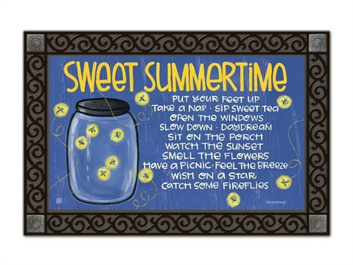 "Summer Fireflies MatMates Doormat - 18"" x 30"""