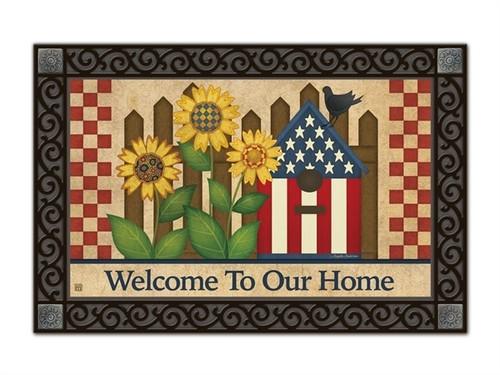 """Americana Garden MatMates Doormat - 18"""" x 30"""""""