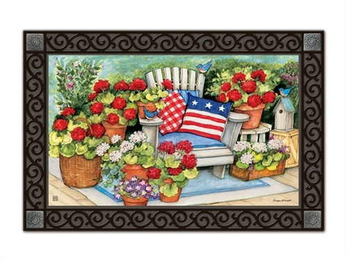 "Patriotic Pillows MatMates Doormat - 18"" x 30"""