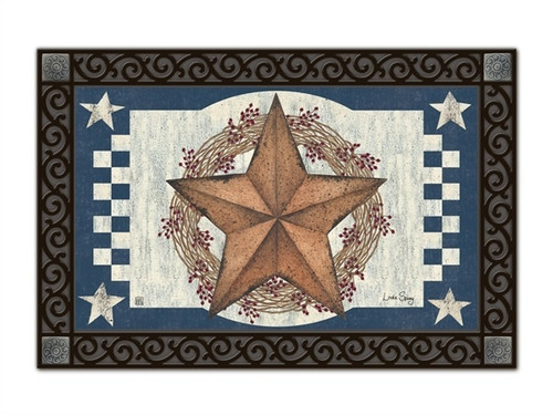 "Blue Barn Star MatMates Doormat - 18"" x 30"""