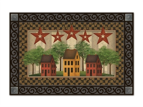 "Saltbox Houses MatMates Doormat - 18"" x 30"""