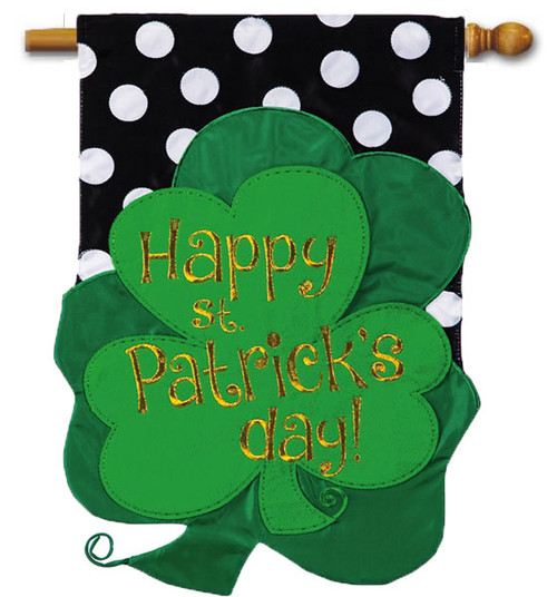 Applique St. Pat's house flag - Evergreen