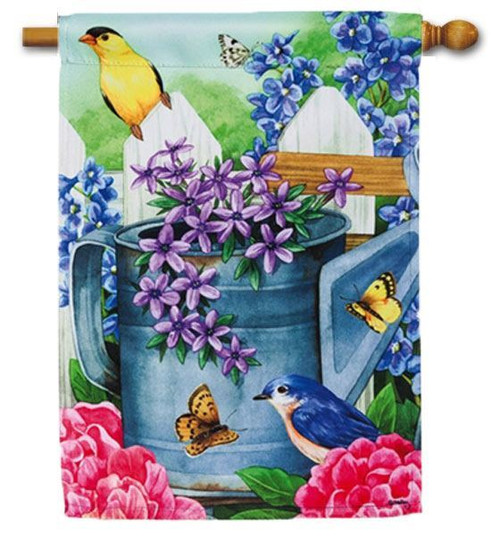 "Garden Traditions House Flag - 29"" x 43"" - Unique 2 Flags in One"