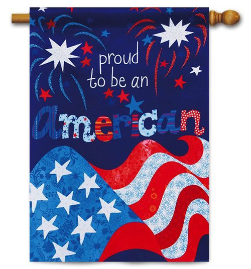 "Proud to be American House Flag - 29"" x 43"" - Evergreen"
