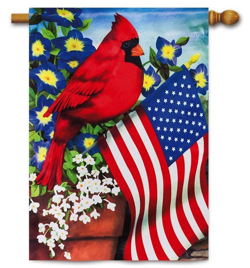 "Cardinal Glory House Flag - 29"" x 43"" - Evergreen"