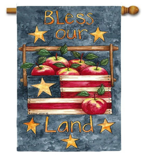 "Bless Our Land House Flag - 29"" x 43"" - 2 Sided Flag"