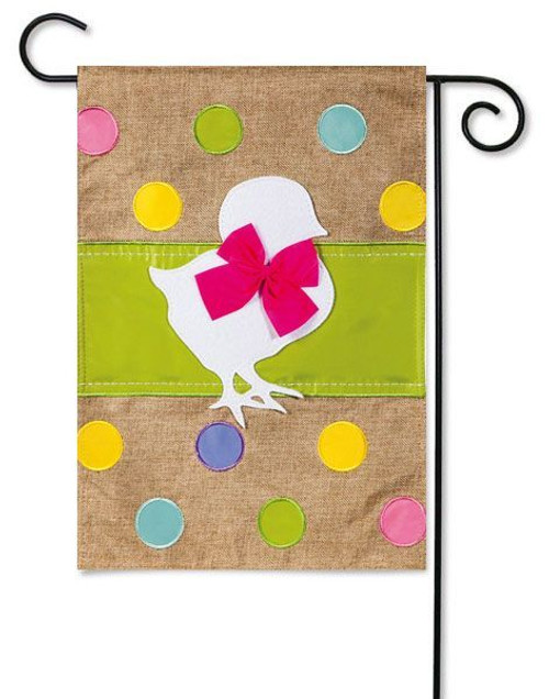 "Easter Chick Burlap Garden Flag - 12.5"" x 18"""