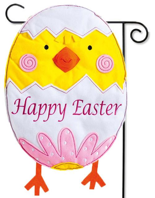 """Easter Chick Egg Felt Garden Flag - 12.5"""" x 18"""""""