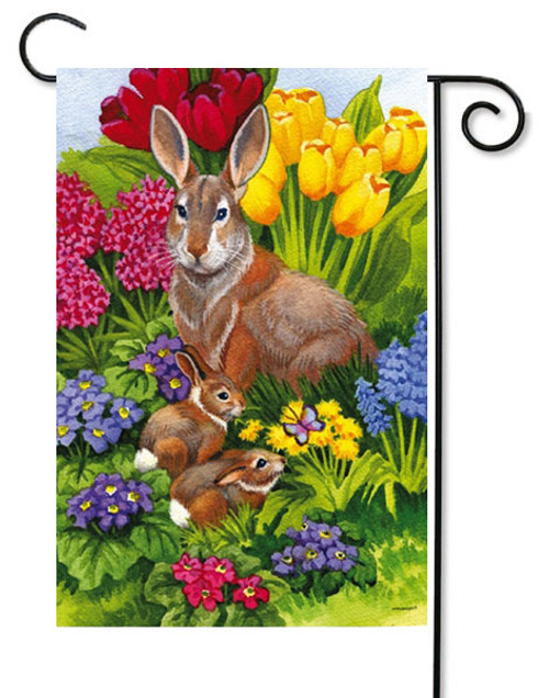 "Easter Morning Garden Flag - 12.5"" x 18"" - 2 flags in 1"