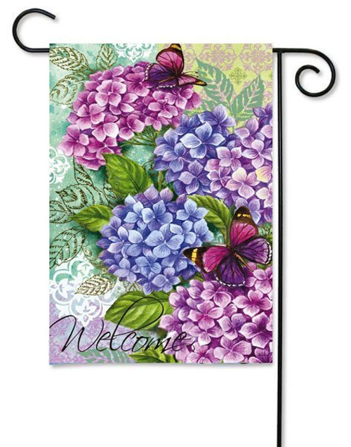"Beautiful Hydrangeas Garden Flag - 12.5"" x 18"""