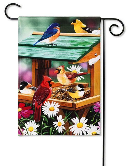 "Backyard Birds Spring Feast Garden Flag - 12.5"" x 18"""