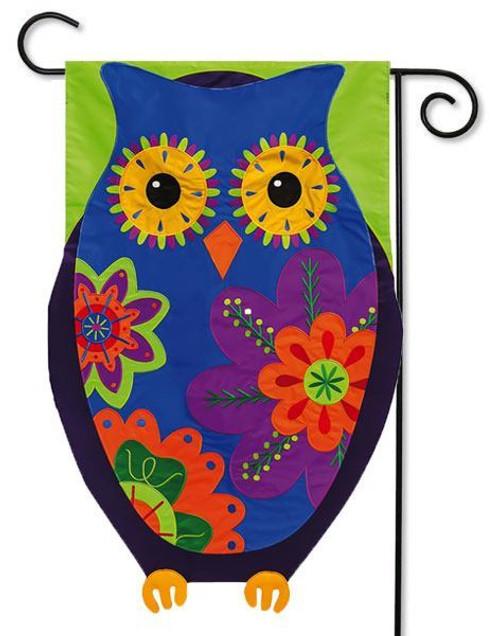 """Owl Applique Garden Flag - 12.5"""" x 18"""""""