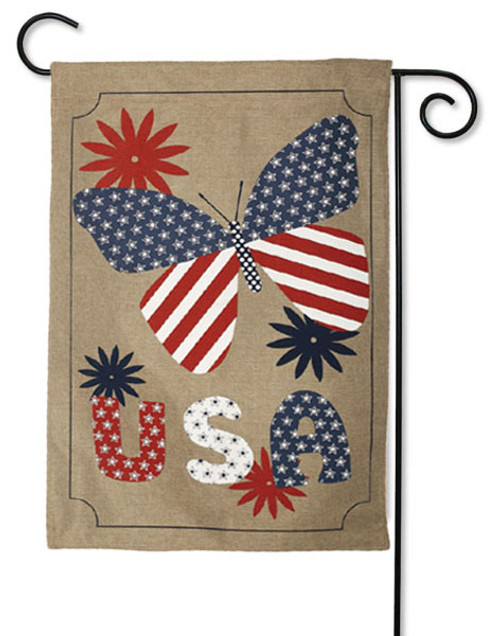 "Love USA Burlap Garden Flag - 12.5"" x 18"" - 2 flags in 1"